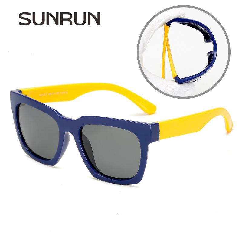 6b1514bab Compre Sunrun New Fashion Crianças Polarizada Óculos De Sol Crianças  Designer De Marca Tr90 Óculos De Proteção Óculos De Proteção Uv Meninas  Clássico Óculos ...