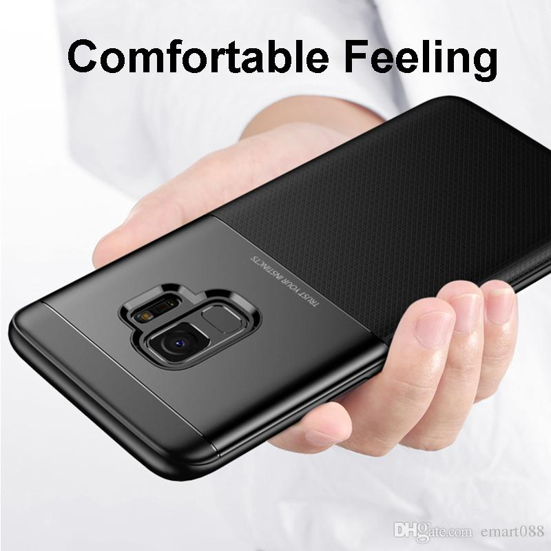 For Samsung Galaxy s9 Cell Phone Case luxury s9case Gaxaly s 9 Cover 9s Flexible Slim Matte Litchi Pattern Protection Bumper Skin