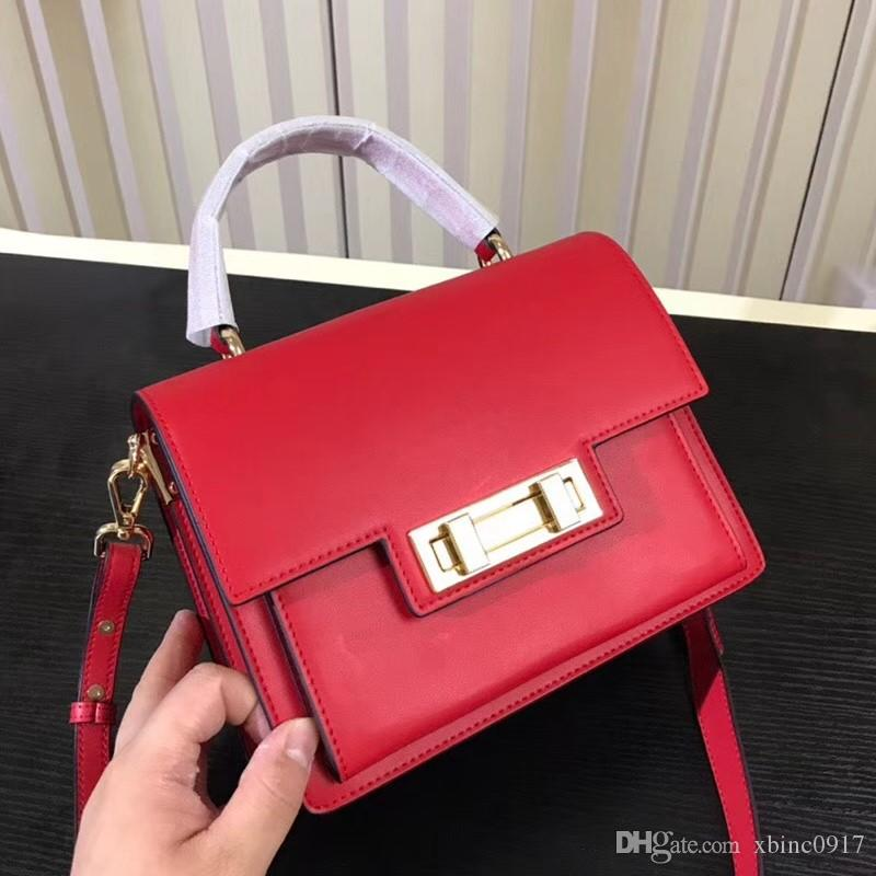 779628b65e1 2018 The New Genuine Leather Cross Body Bags with High Quality Lock Western  Style Flap Bags Stylish Female Bags Versatile Shoulder Bag Cross Body Bag  Women ...