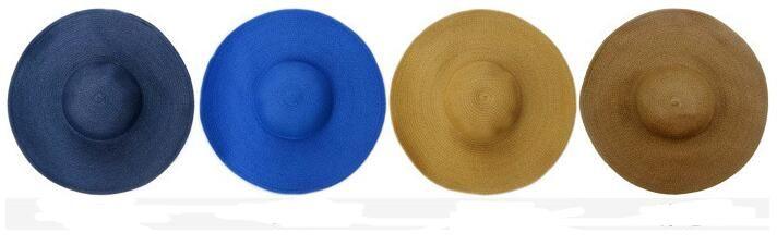 fashion folding empty sun hat for women sun caps summer beach straw hats multicolor Beach Cap Wide Brim Hats