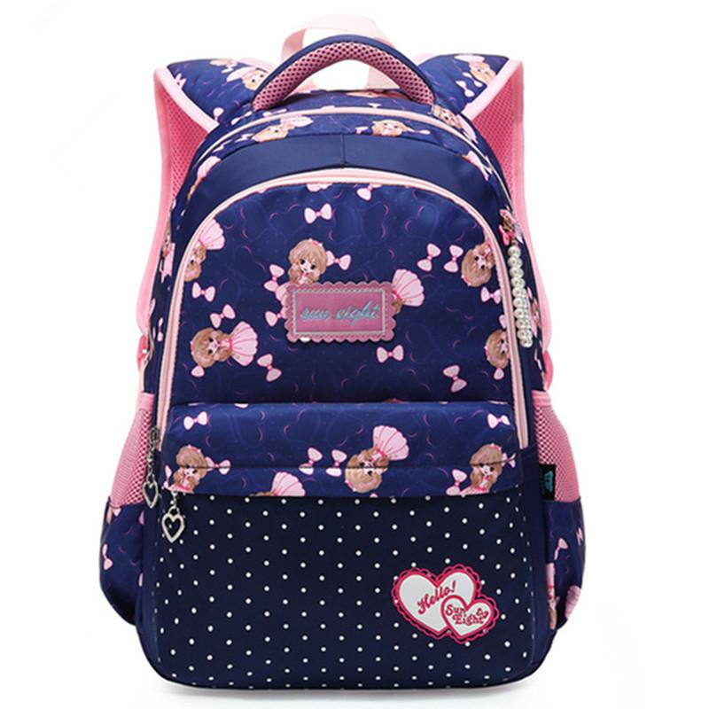 1d2287ee4a Hit Color Kids Primary School Girl Backpack Bags Cartoon Children Student  Backpacks Daypack Mochila Bag Princess Schoolbag Travel Luggage Rucksack  Purses ...