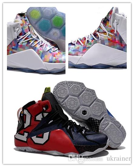 e7bfa50c5cce26 Wholesales 2018 New LeBrn XII Men Basketball Shoes Authentic What The  Limited Sneakers High Quality Rainbow 12 Sports 41-46 LeBrn XII Basketball  Shoes ...