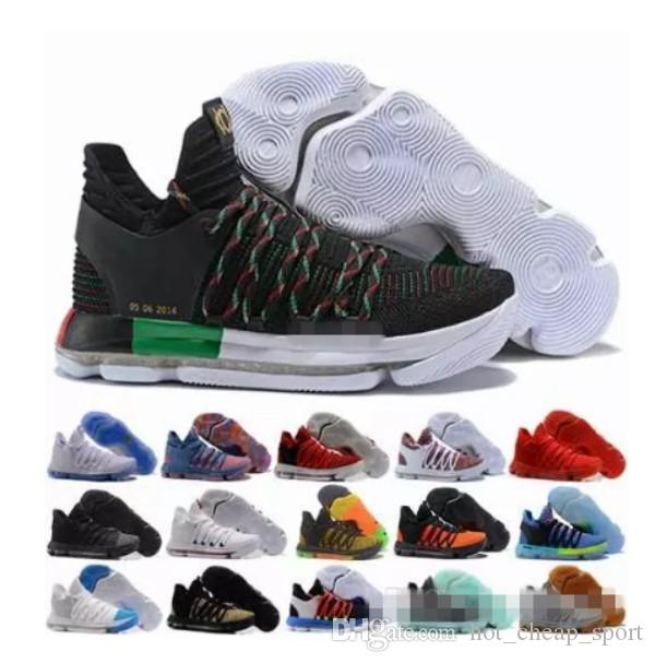 5588e3a5a67 2018 KD 10 X Mens Basketball Shoes Kevin Durant 10s Orange Pure Platinum  BHM Oreo Triple Lmtd City Series Features KD10 Sports Sneakers Basketball  Shoes For ...