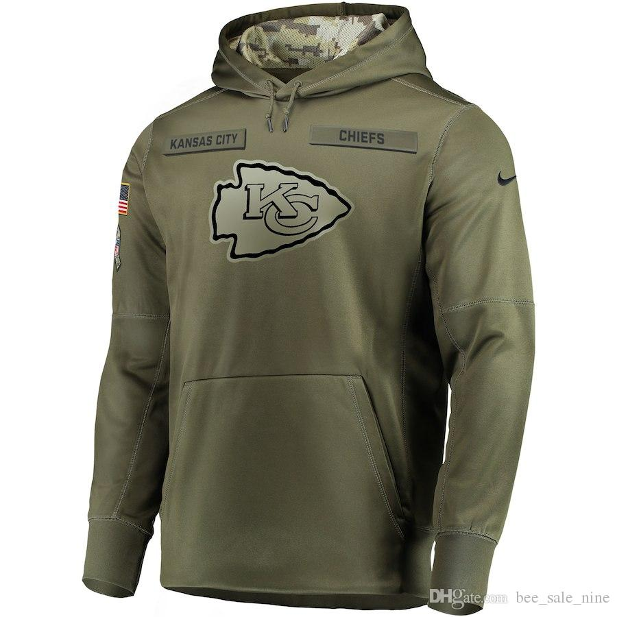 big sale 18199 c0e87 Kansas City Sweatshirt Chiefs Salute to Service Sideline Therma Performance  Pullover Hoodie- Olive