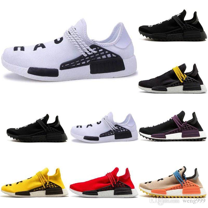 c7df514ec6f12 2018 Human Race Running Shoes Pharrell Williams Hu Trail Cream Core ...