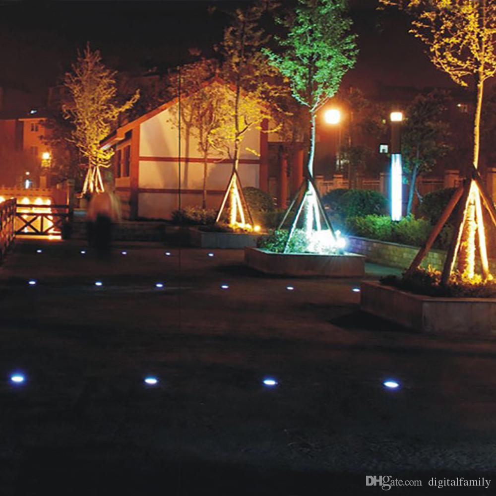 Солнечный приведенный в действие 8 светодиод освещая похороненный земной подземный свет для напольного светильника украшения ландшафта лужайки сада Путя