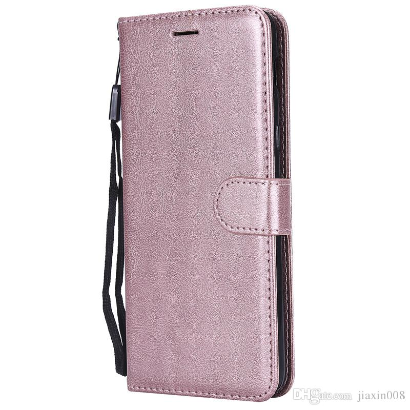 reputable site 6f938 269b7 Wallet Case For Samsung Galaxy J8 2018 Flip back Cover Pure Color PU  Leather Mobile Phone Bags Coque Fundas For Galaxy J8 2018
