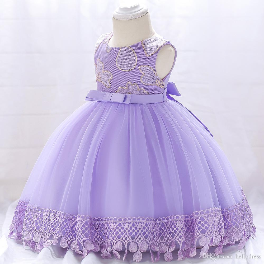 616a11929 Light Purple Ball Gown Flower Girl Dresses Sleeveless European Style ...