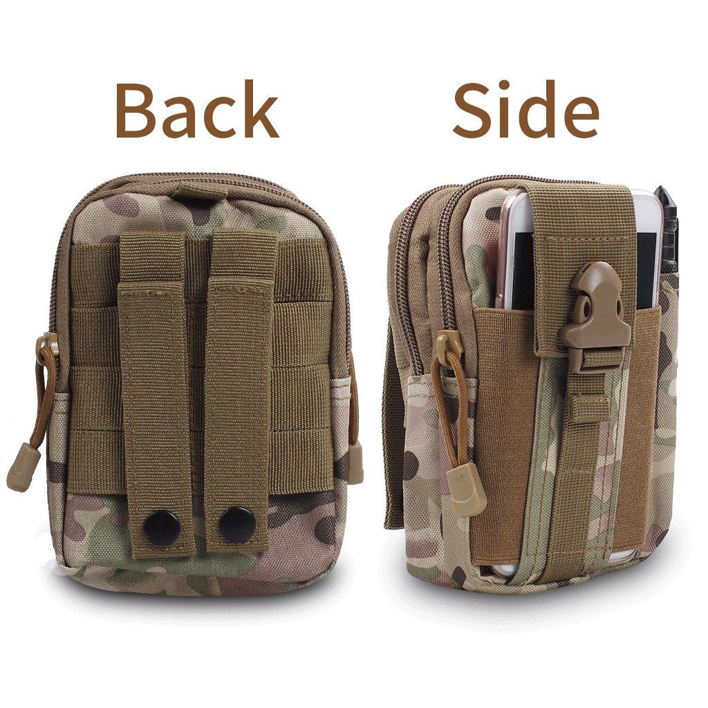 Tático Molle EDC Utilitário Bolsa Gadget Cinto Saco de Cintura com Caso Estojo De Couro Do Telefone Celular Ao Ar Livre Sports Organizer Bag