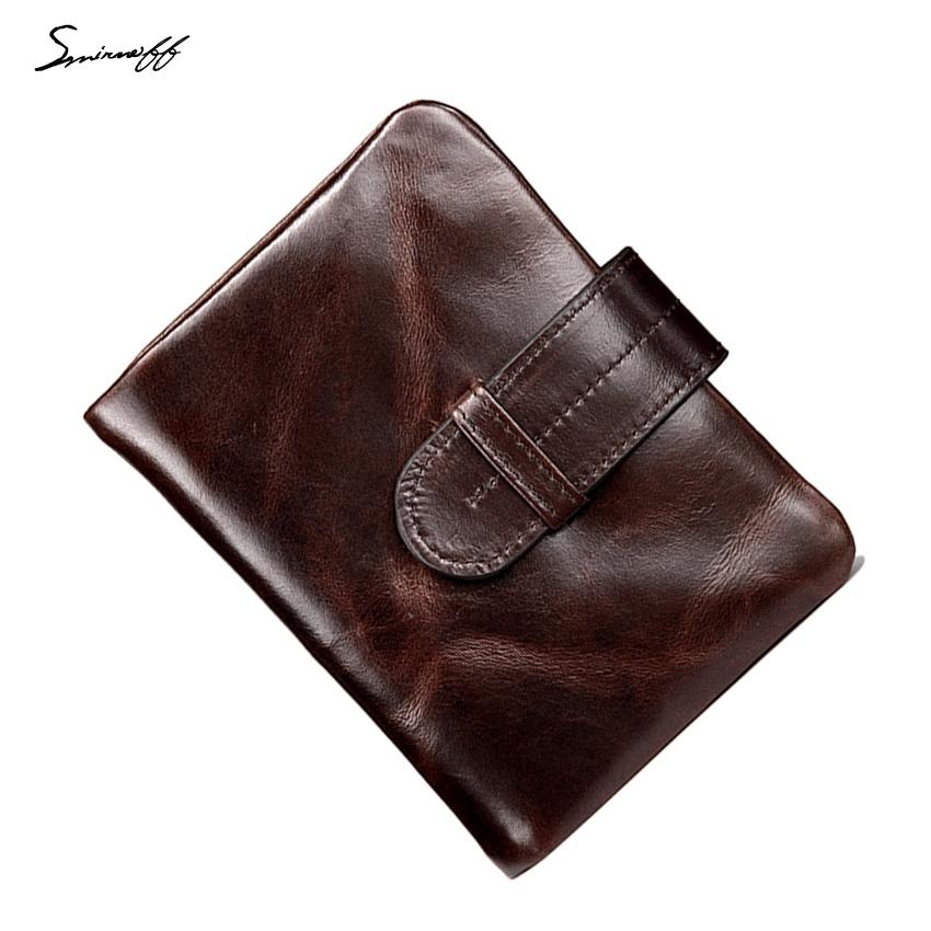 a27a641f97 SMIRNOFF Soft Leather Vintage Wallet Men Luxury Brand Card Holder 2 Folded  Purse Bag Short Hasp Multi-Card Bit Purse Male Wallet S923 Online with ...