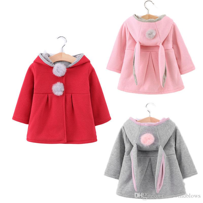 c3e85a814446 Spring Autumn Jackets Infant Kids Rabbit Jacket Baby Girls Poncho ...