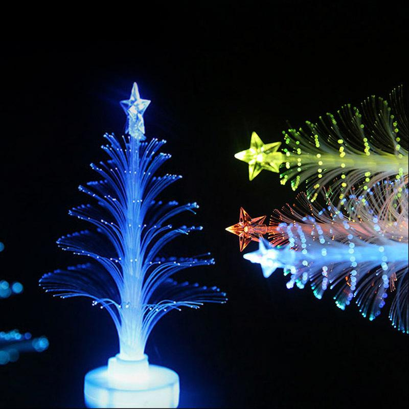 led fiber optic christmas trees colorful led fiber night light three dimensional christmas tree can be pasted small gift l50 gift gifts gift christmas gifts - Led Fiber Optic Christmas Tree