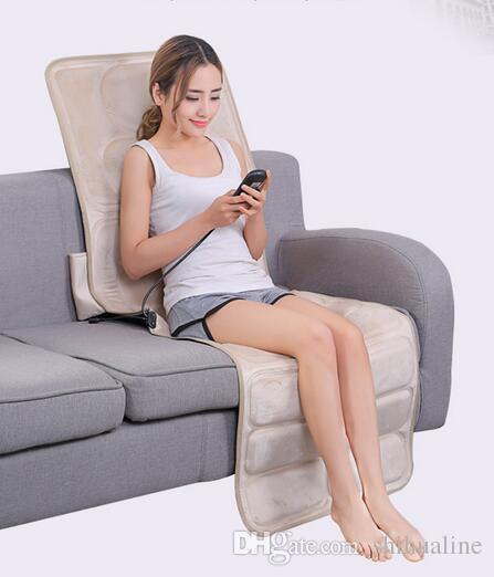 Servikal masaj masaj yatağı çok fonksiyonlu vücut masajı ısıtma bel omuz geri ev bakımı sandalye minderi