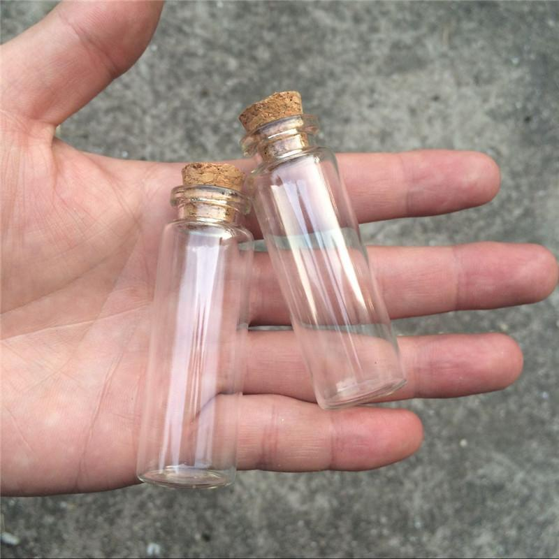 15ml Glass Perfumes Bottles Small Crafts Bottles With Corks 50pcs 22*65*12.5mm 15ml