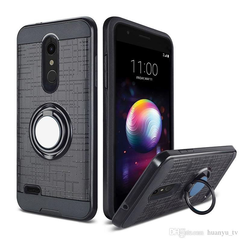 360 Degree Rotating Ring Case for ZTE MAX XL N9560 max pro Z981 with  Kickstand & Magnetic Car Mount Phone Back Cover Oppbag