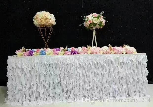 Romantic luxurry fashion table skirts runner cloth wedding long table decoration hotel home banquet party table decoration