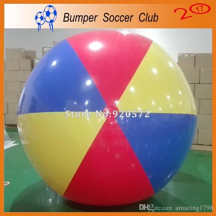الحرة الشحن مضخة 2M في الهواء الطلق الألعاب الرياضية الملونة نفخ الكرة الشاطئية العملاقة لعبة الكرة للأطفال