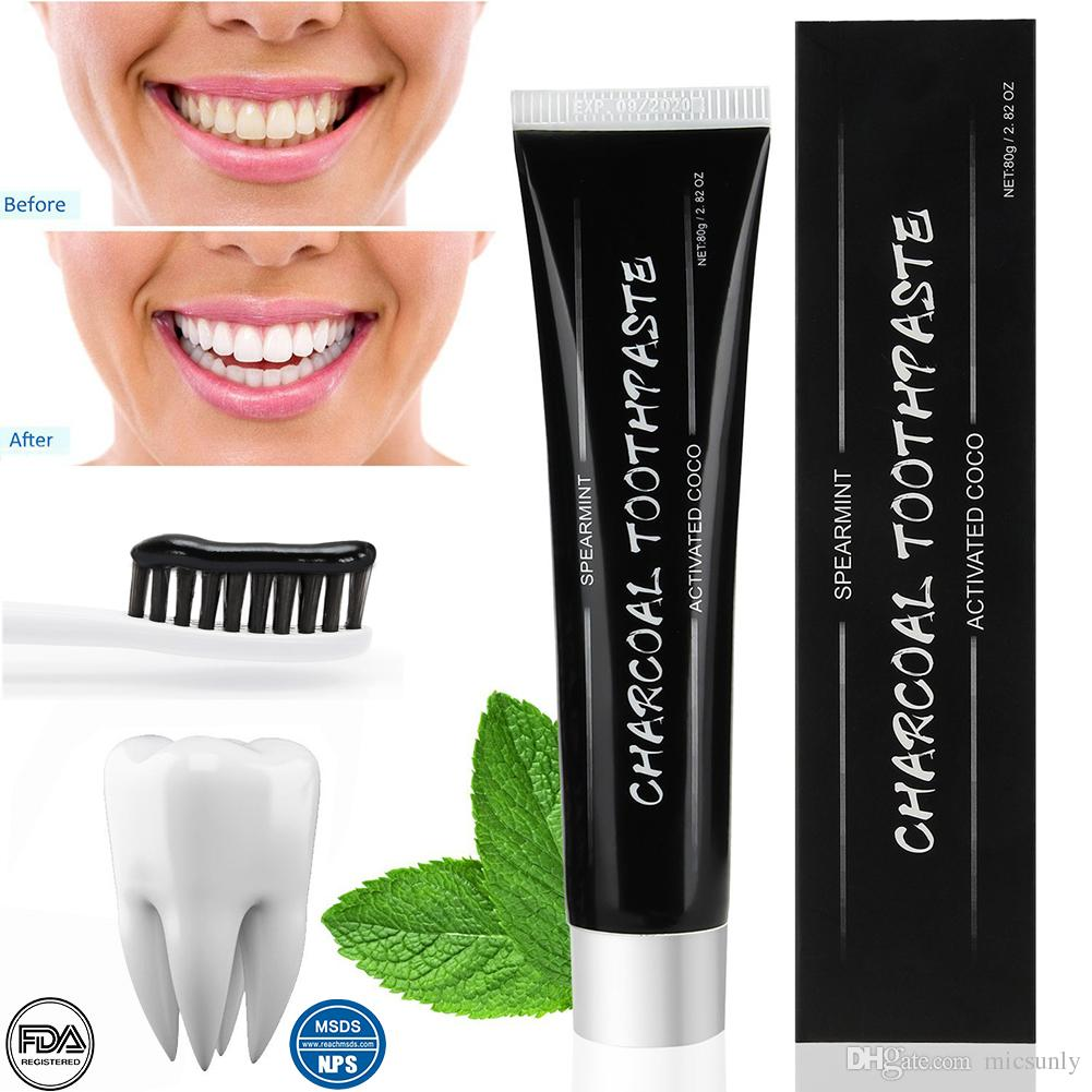 2018 new 80g of coconut shell active charcoal whitening toothpaste
