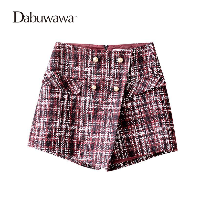 e28556325c0d Großhandel Dabuwawa Weinrot Kurze Frauen Plaid Vintage Wolle Rock Shorts  Für Winter Damen Plaid Shorts Von Cagney,  53.28 Auf De.Dhgate.Com   Dhgate