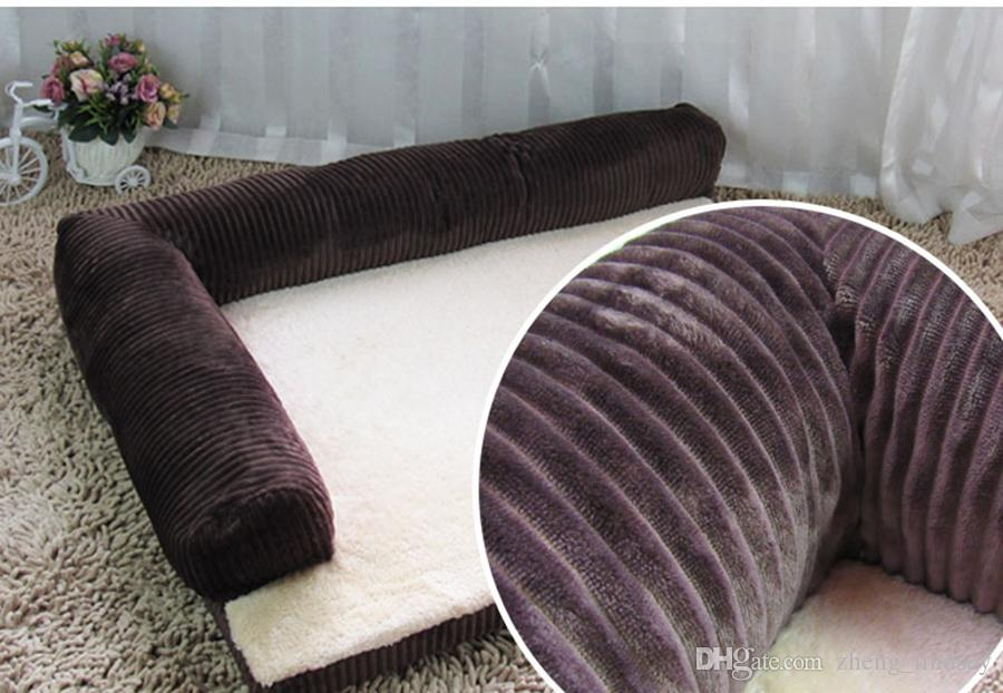 fashion pet bed cushion dog cat warm soft pad winter washable warm kennel for cat puppy plus size drop shipping