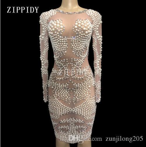 Kleid perlen strass
