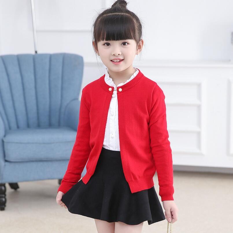 bef6f81a2 2018 Spring Autumn Long Sleeves Girls Sweater Kids Cardigan Girls ...