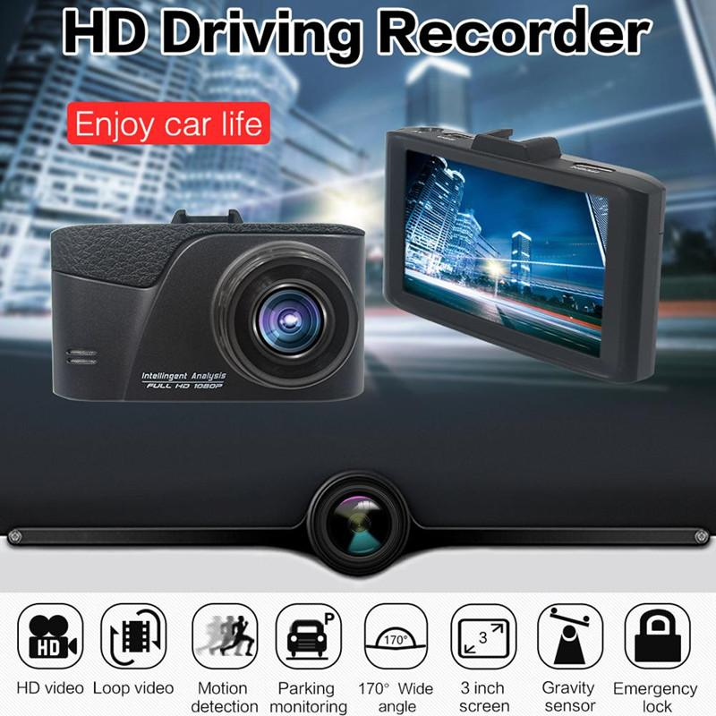 3 inches car DVR black box vehicle registrator recorder car safety camcorder 170° 1080P full HD loop recording G-sensor motion detection
