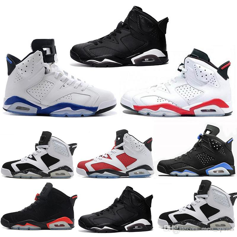 df3144cf5b2c4e New 6 6s Mens Basketball Shoes UNC Infrared Black Cat Sports Blue ...