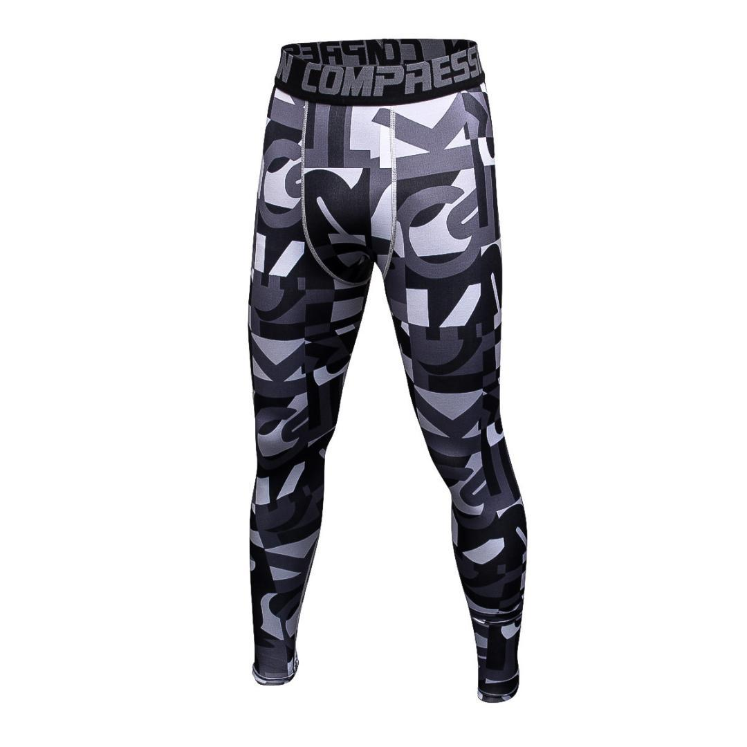 7b21946b2df Long Pants Camouflage Men s Quick-dry Compression Running Tights ...