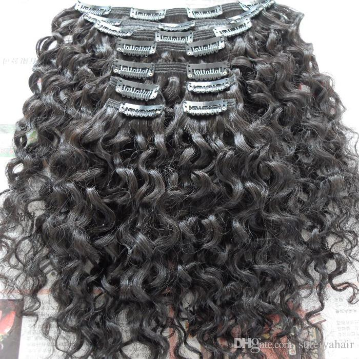 10 28 Inches Clip In Hair Extensions Brazilian Water Curly Virgin