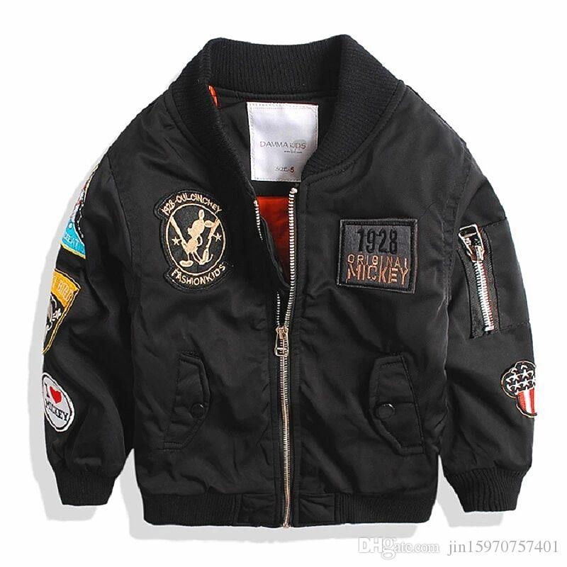 964f5bf20ccc Spring Autumn Jackets for Boy Coat Bomber Jacket Army Green Boy s ...