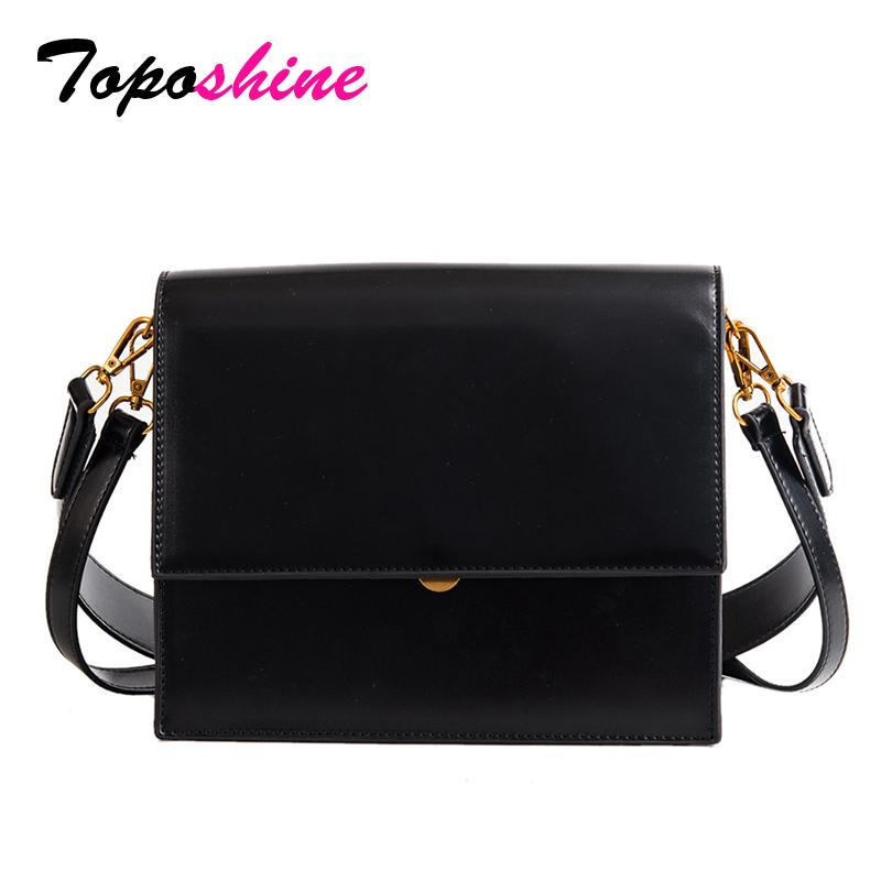 Toposhine Brand New Korean Simple Style Women Briefcase Handbag Alligator Pattern PU Leather Girl Shoulder Bag Business Lady Bag