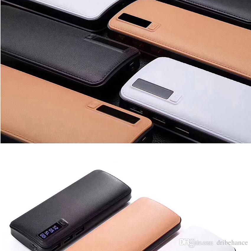 Nuevo estilo 20000mAh Power Bank 3USB Batería externa Cargador portátil de banco de energía con luz LED para iPhone 8 X Samsung s8 universal
