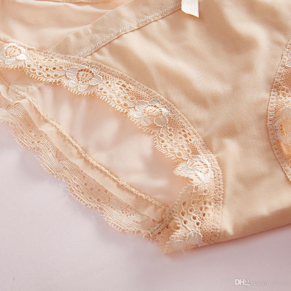 Sommer ultradünne Mesh transparent Höschen Womans sexy Nylon Kreuzgurte Bandage niedrige Taille Tanga Höschen plus Größe Spitze Slip