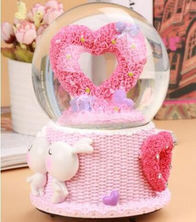 2019 Creative Rotary Crystal Ball Music Box Girls Birthday Gift Girlfriend Bestie Romantic Gifts Bo From
