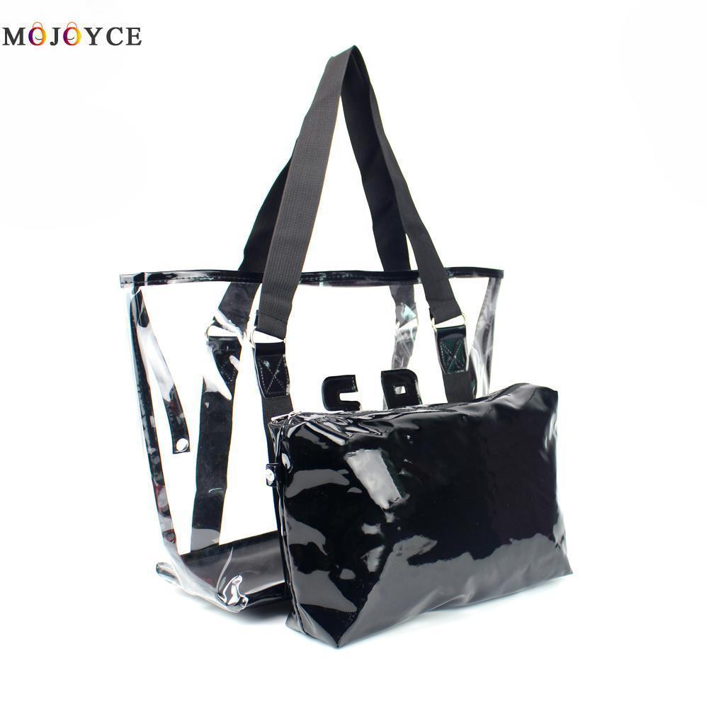35bdf0d263b3 2019 Fashion Summer Waterproof Transparent Jelly Crystal Women Shoulder Bags  Ladies Clear PVC Purses And Handbags Large Capacity Beach Bag Men Bags  Handbag ...