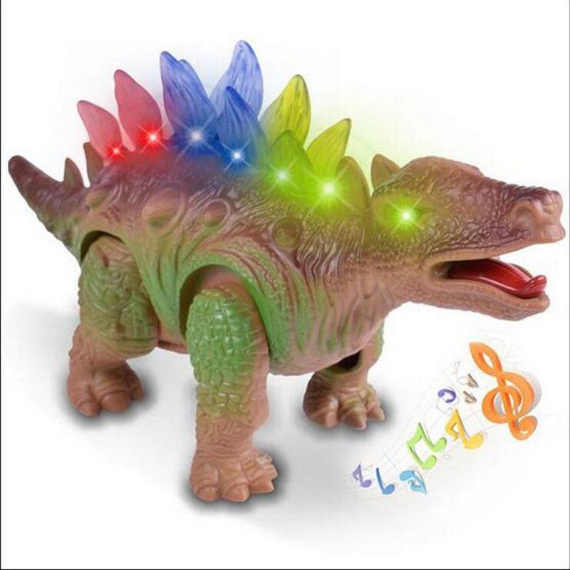 Electric Model Dinosaurs Flashingsoudingwalking Plastic Battery