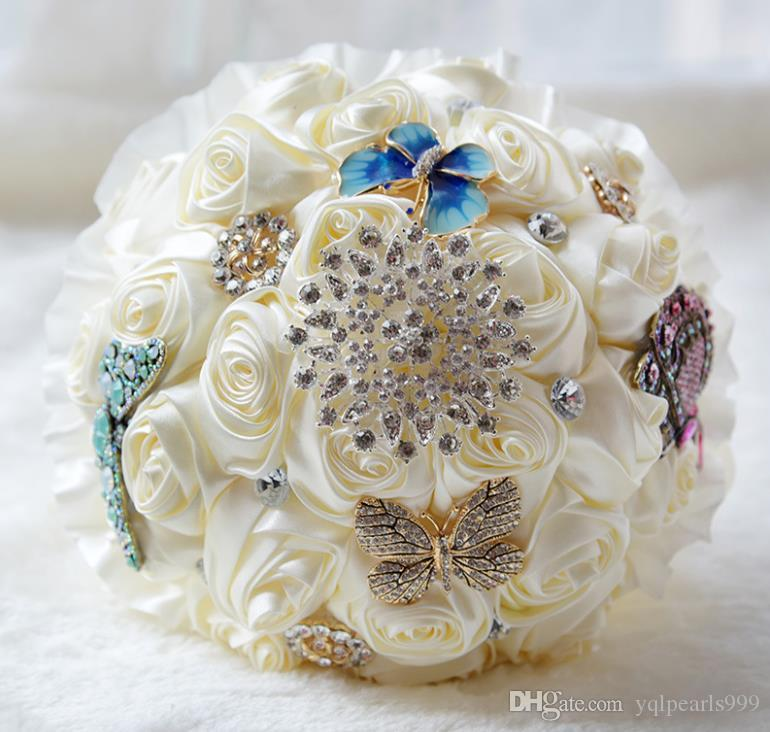 Champagne everlasting Angel bride and Flower Rose Butterfly