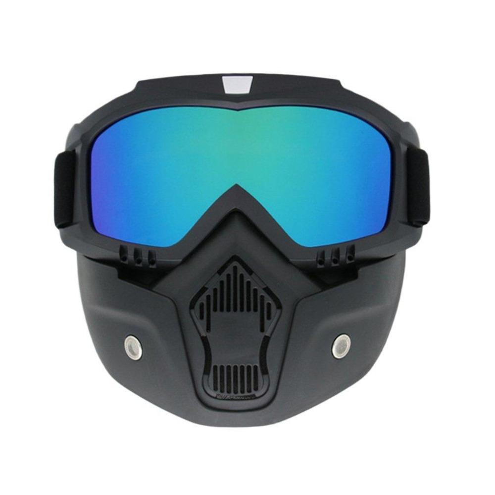 d6a673ac0db Men Motocycle Mask Winter Ski Snowmobile Goggles Windproof Skiing ...