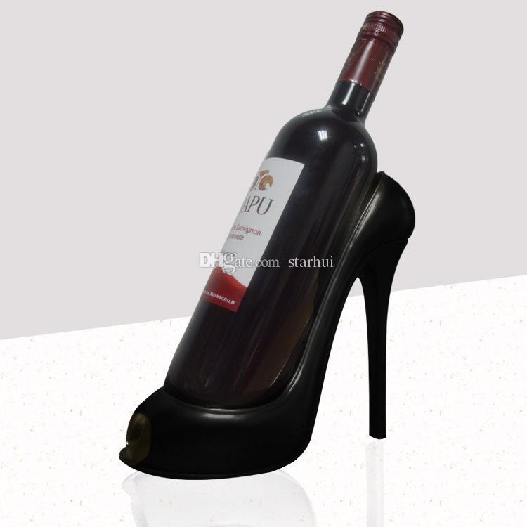 Yüksek Topuklu Şarap Rafı Silikon Şarap Şişesi Tutucu Raf Raf Ev Partisi Restoran Oturma Odası Yemek Masası Süslemeleri WX9-246