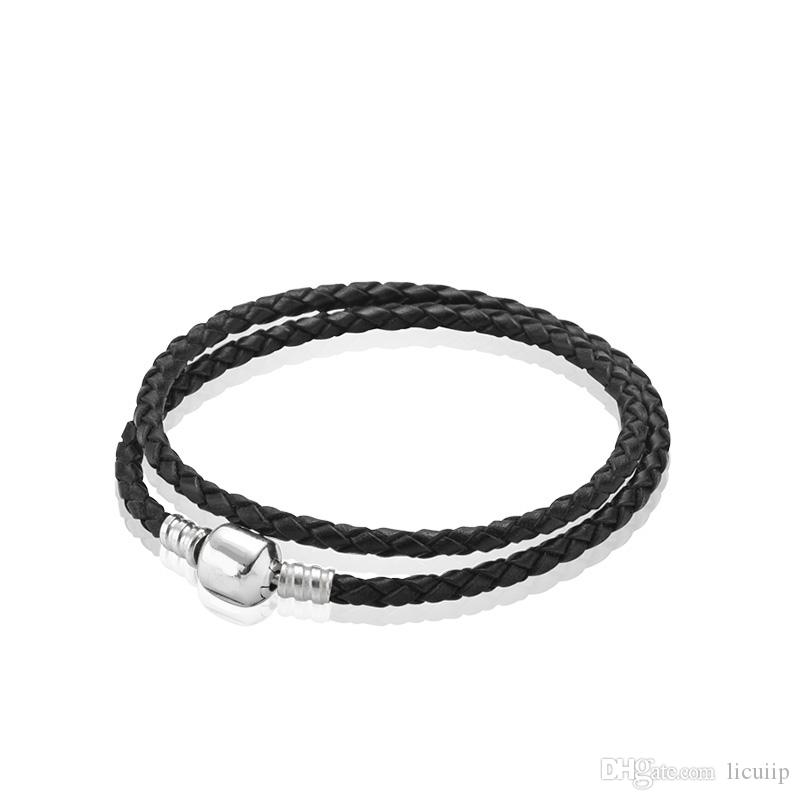 Real Leather Bracelets Womens 925 Sterling Silver Charm Bracelet Fit  Pandora Beads Bracelet Jewelry Bracelets Friendship Bracelets From Licuiip 052ce26e05