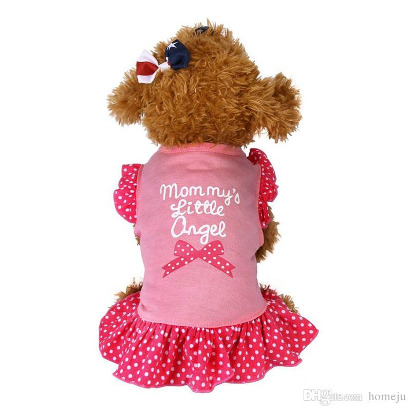 Summer Puppy Small Pet Cat Pet Dress Apparel Clothes Fly Sleeve Dress Ropa De Verano Para Perros Girl's Dog Clothes Dress
