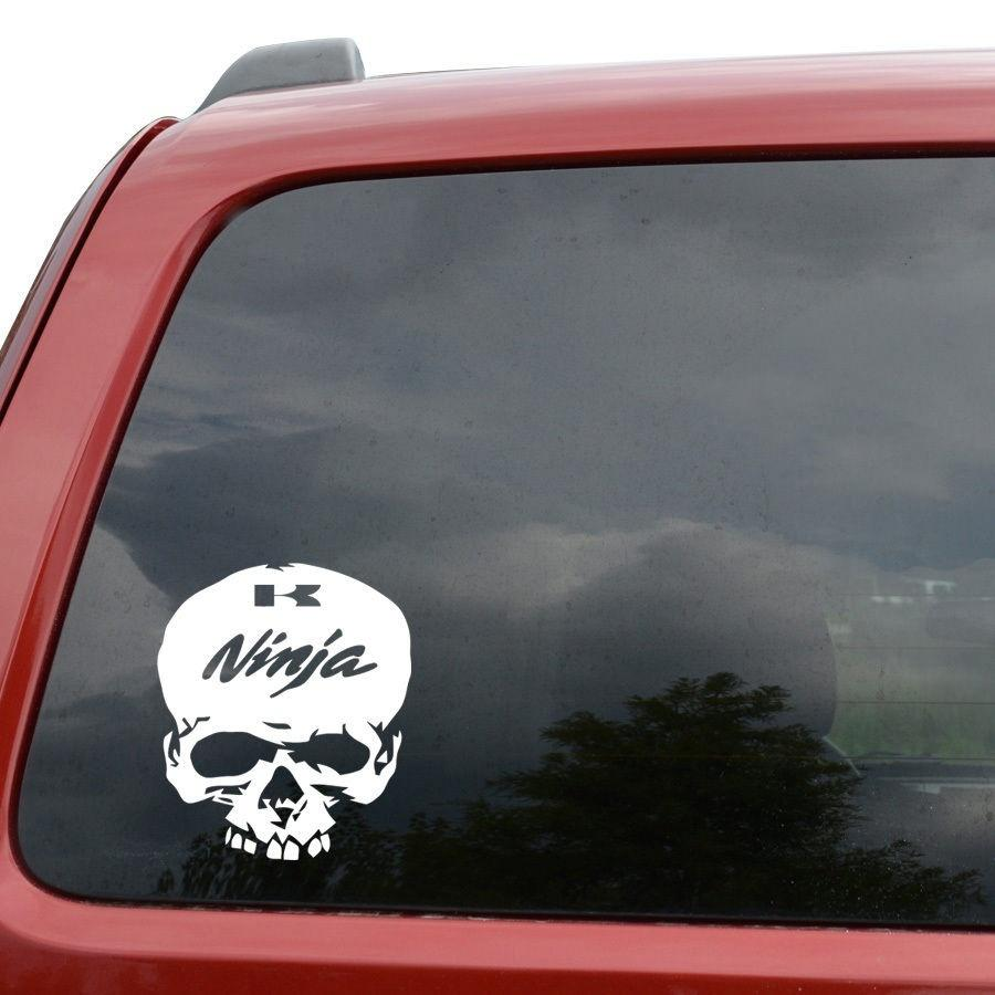 2019 car styling for ninja skull car window decor vinyl decal sticker 6 tall white from redchinatown 1 01 dhgate com