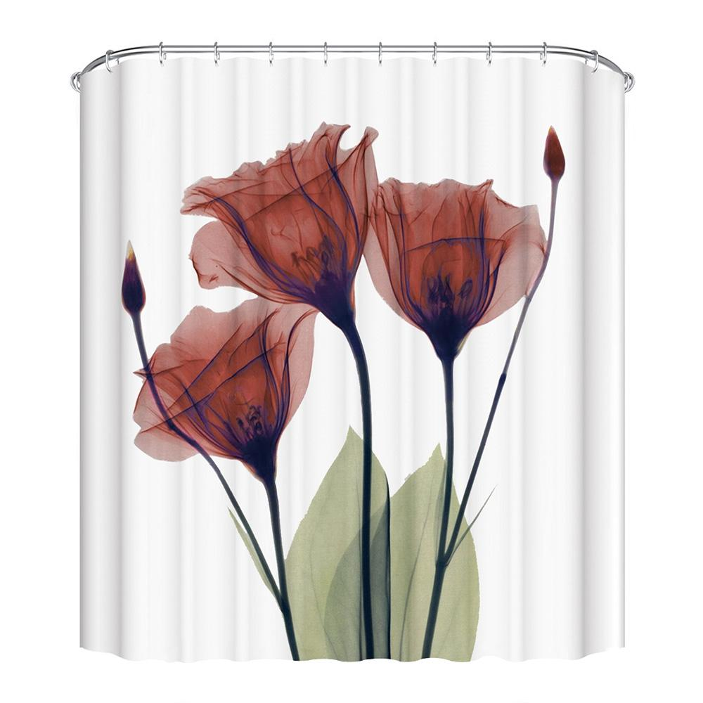 2018 3D Printing Corn Poppy Shower Curtain Set With 12 Hooks 180 X 180cm From Xuxiaoniu5 2155