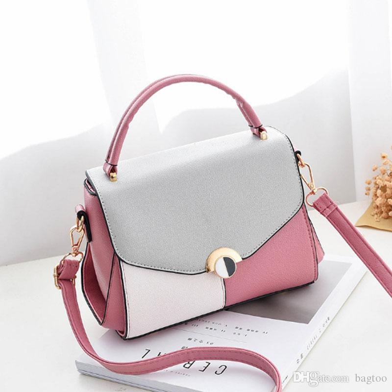 Women's Fashion New Zipper Lock High Quality PU Shoulder Bag Multi- Functional Travel Shopping Cosmetic Handbag Luxury Girl Message Bag