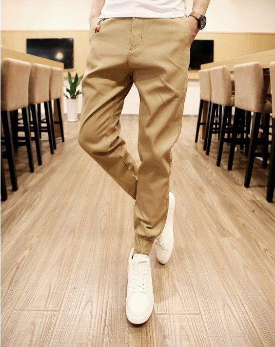 New Mens Skinny Joggers Chinos Slim Pants Men Trousers Hip Hop Pantalones Hombre Plus Size S 3xl