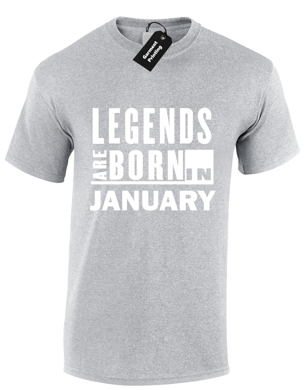 ad14ac5a9 LEGENDS ARE BORN IN JANUARY MENS T SHIRT COOL FUNNY BIRTHDAY GIFT PRESENT  IDEA Funny Unisex Casual Gift Rude Tshirts Offensive Tee Shirts From  Superstartees ...