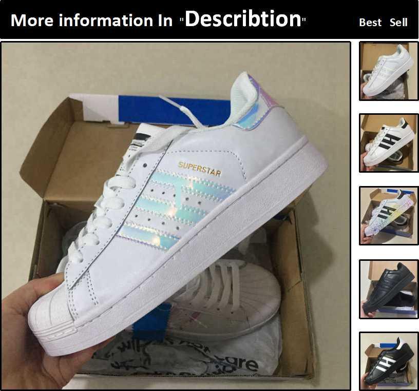 89407d7b9f3 Compre Adidas Superstar Venta Al Por Mayor Zapatos Corrientes Mujeres  Hombres Barato Causal Sneaker Mejores Nuevos Zapatos Al Aire Libre  Descuento ...