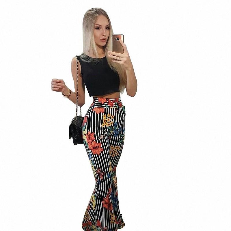 Compre Pantalones Cortos De Moda Y Pantalones Anchos De La Pierna Sistemas  Impresos De Dos Piezas De Rayas De La Raya De Las Mujeres Camisetas Sin  Mangas ... a984fb3b2a80
