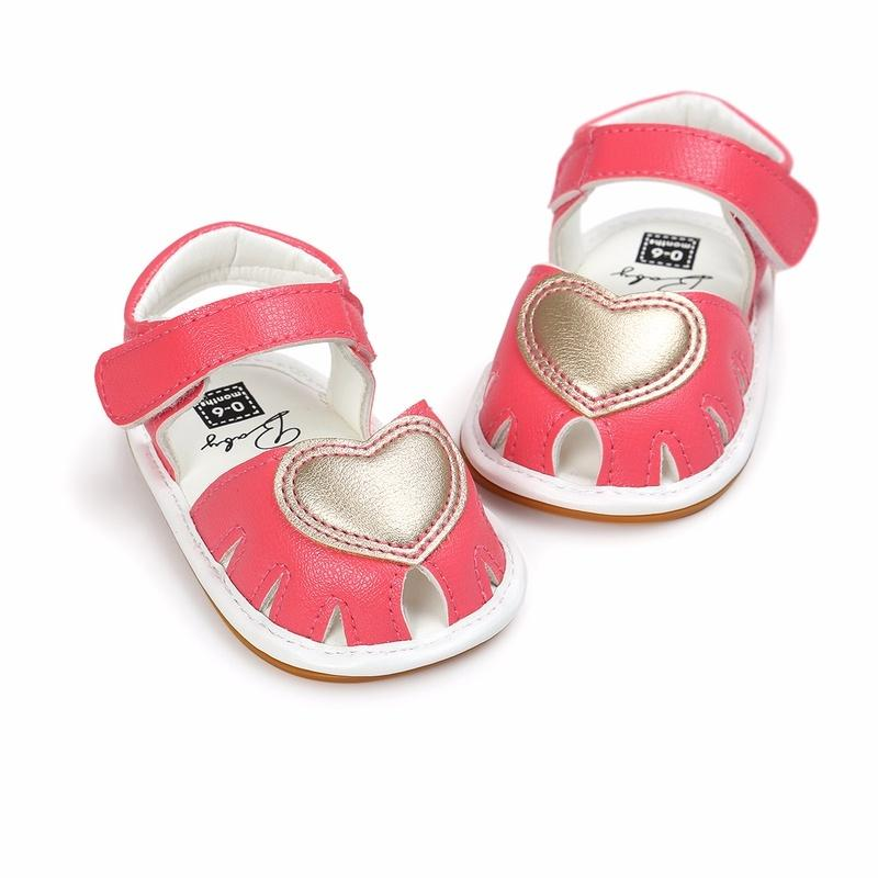4796d68b846f 2019 Red Heart Spring And Summer Baby Sandals Baby Shoes Soft Bottom Shoes  Toddler Shoes From Max4072